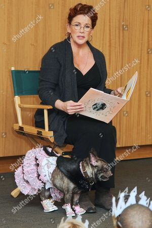 Melissa Gilbert with her dog Josephine