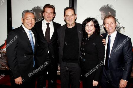 Stock Picture of Kevin Tsujihara, Bradley Cooper, Greg Silverman, Sue Kroll, Andrew Lazar
