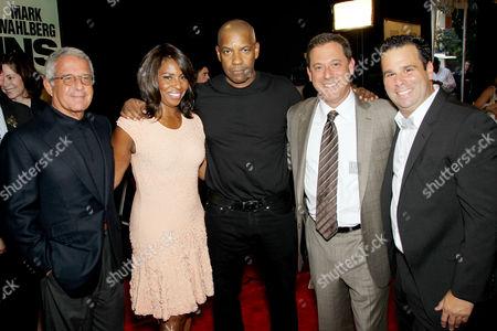Ron Meyer, Pauletta Washington, Denzel Washington, Adam Fogelson and Randall Emmett
