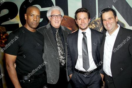 Denzel Washington, Norton Herrick, Mark Wahlberg and Randall Emmett