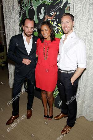 Stock Photo of Pierre Frey ( Pierre Frey Showroom ), Nicole Gibbons (Blogger SoHaute), Joshua Greene (Shagreene)