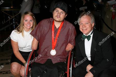 Stock Photo of Olivia Springer, Nick Springer and Gary Springer