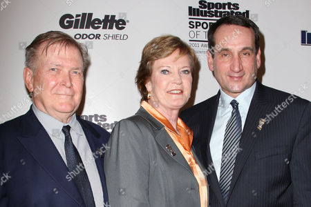 Stock Image of Terry McDonell, Pat Summitt and Mike Krzyzewski