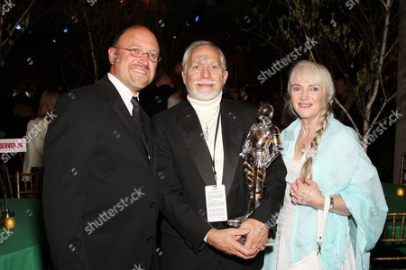 Stock Image of Cary Granat (CEO Walden), Douglas Gresham (Co-Producer) with wife