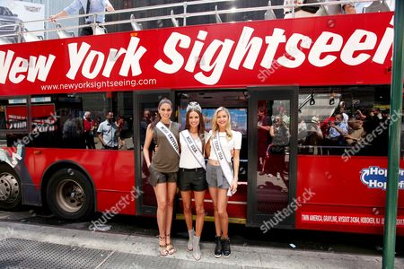 Maria Gabriela Isler (Miss Universe), Nia Sanchez (Miss USA 2014), Cassidy Wolf (Miss Teen USA)