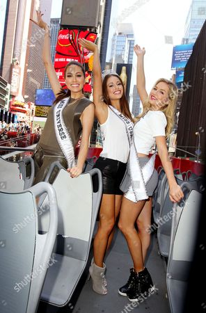 Editorial image of Miss Usa rides Gray Line Sightseeing Bus, New York, America - 16 Jun 2014