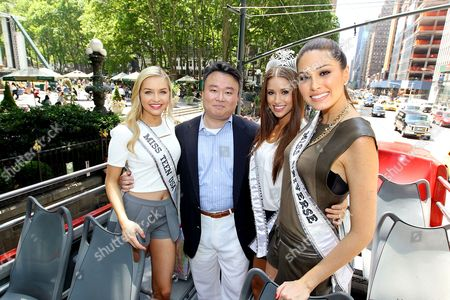 Editorial picture of Miss Usa rides Gray Line Sightseeing Bus, New York, America - 16 Jun 2014