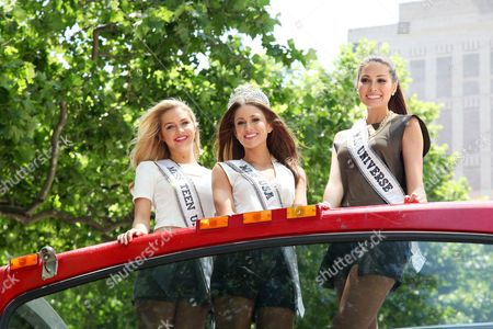 Editorial photo of Miss Usa rides Gray Line Sightseeing Bus, New York, America - 16 Jun 2014