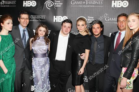 Rose Leslie, Eric Kessler, Maisie Williams, John Bradley, Natalie Dormer, Kit Harington, Jeff Hirsch and Sophie Turner