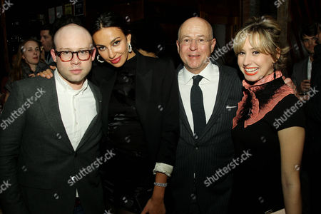 Stock Photo of Shane Kidd, Madalina Diana Ghenea, David Granger (Editor-in-Chief Esquire Magazine), Jazmin Grace Grimaldi