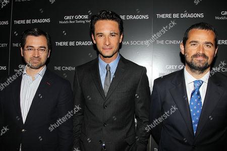Ignacio Gomez -Sancha, Rodrigo Santoro and Nacho Nunez