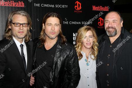 Andrew Dominik, Brad Pitt, Dede Gardner and James Gandolfini