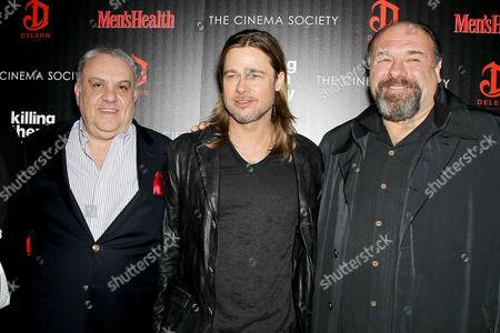 Vincent Curatola, Brad Pitt and James Gandolfini