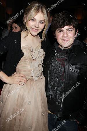 Stock Picture of Chloe Moretz and Josh Flitter
