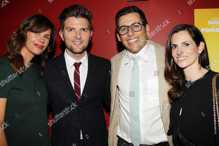 Naomi Sablan, Adam Scott, Stu Zicherman and Ruthie Vexler