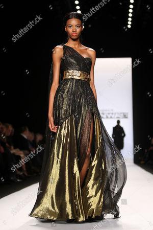Emilio Sosa Collection - Model on catwalk