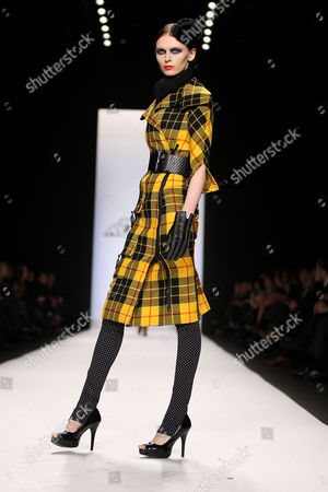 Stock Picture of Seth Aaron Henderson Collection - Model on catwalk