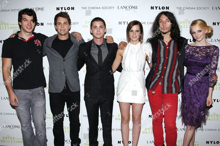 Adam Hagenbuch, Johnny Simmons, Logan Lerman, Emma Watson, Ezra Mill and ErinWihelmi