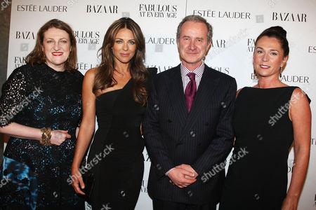 Glenda Bailey, Elizabeth Hurley, Fabrizio Freda and guest