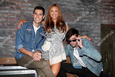 Allison Hagendorf (Fuse Host) with Cobra Starship - Gabe Saporta and Ryland Blackinton