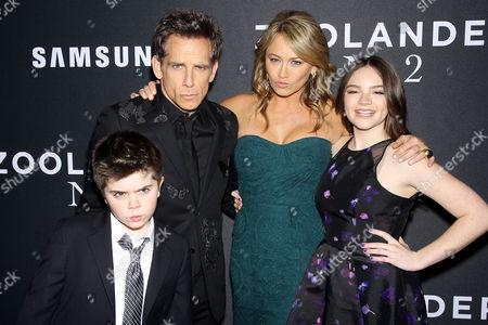 Stock Photo of Quinlin Stiller, Ben Stiller, Christine Taylor, Ella Stiller