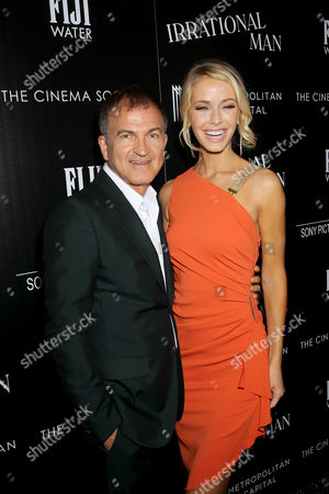 Stock Image of Ed Walson (Producer), Olivia Jordan (Miss USA)