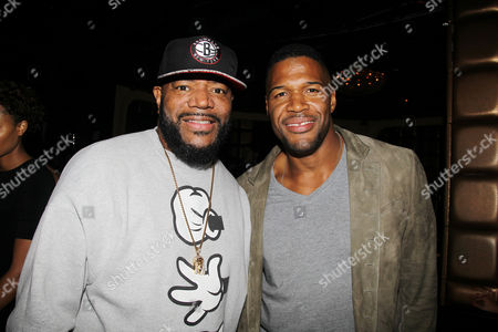 Ed Lover and Michael Strahan