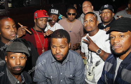 Hassan, Jabari 'Jungle' Jones, Nas, Shawn 'Pecas' Costner (SVP, Def Jam Recordings), DJ Premier, AZ