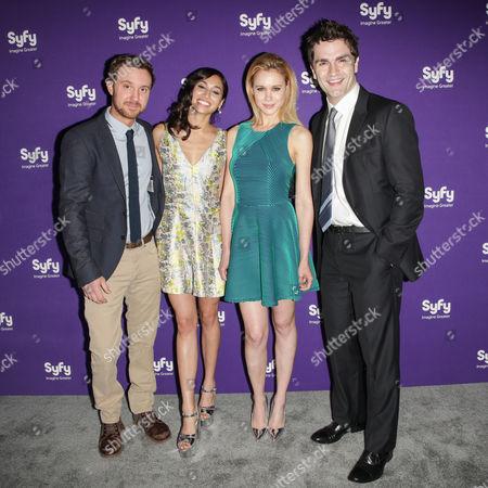 Sam Huntington, Meaghan Rath, Kristen Hager and Sam Witwer