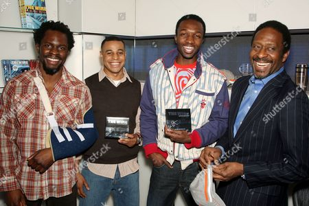 Stock Picture of Gbenga Akinnagbe, Corey Parker Robinson, Jamie Hector and Clarke Peters