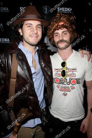 Scott Sartiano and Penn Badgley