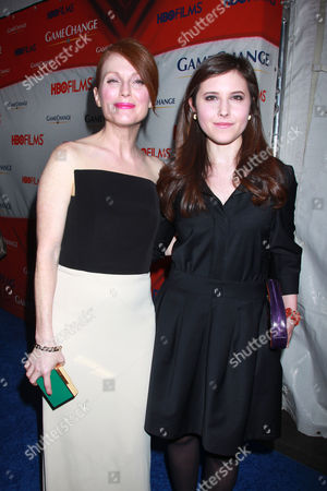 Julianne Moore and Melissa Farman