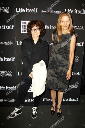 Ingrid Sischy and Sandra Brant