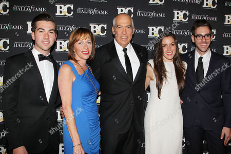 Stock Picture of Steve Bornstein (Pres. and CEO, NFL Network) with family