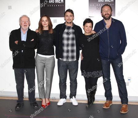 Jim Norton, Leighton Meester, James Franco, Anna D Shapiro and Chris O'Dowd