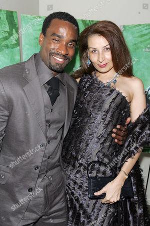 Oris Erhuero with wife Pamela