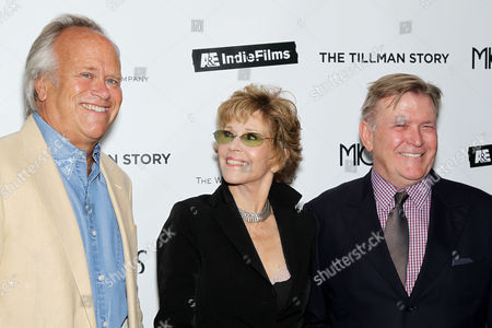 Dick Ebersol, Jane Fonda and Terry McDonell