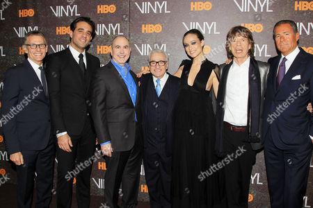 Michael Lombardo, Bobby Cannavale, Terence Winter, Martin Scorsese, Olivia Wilde, Mick Jagger, Richard Plepler