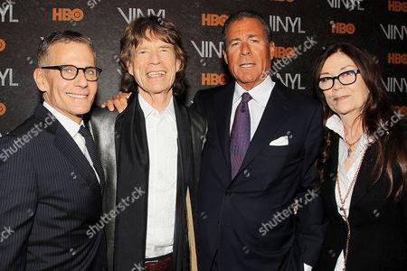Michael Lombardo, Mick Jagger, Richard Plepler, Victoria Pearman