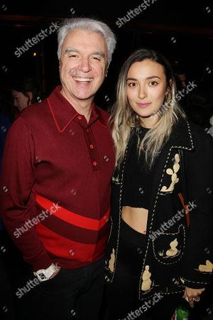 David Byrne and daughter Malu Abeni Valentine Byrne
