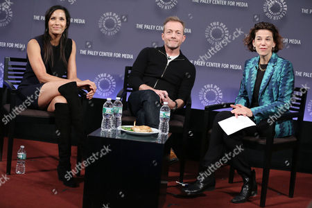Stock Picture of Padma Lakshmi, Steven Kydd (Co-Founder, Tastemade), Dana Cowin (Editor-in-Chief, Food & Wine)