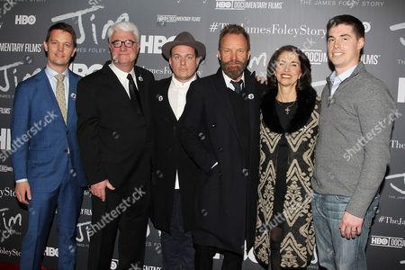 Brian Oakes (Director), John Foley, J. Ralph, Sting, Diane Foley and Michael Foley