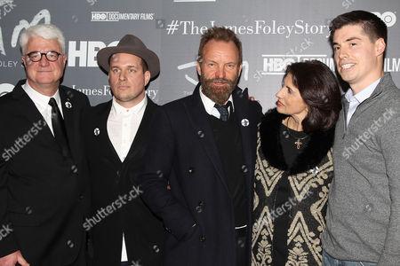 John Foley, J. Ralph, Sting, Diane Foley and Michael Foley
