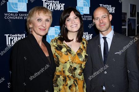 Klara Glowczewska (Editor-in-Chief of Conde Nast Traveler), Mandy Moore and Chris Mitchell (VP and Publisher of Conde Nast Traveler)