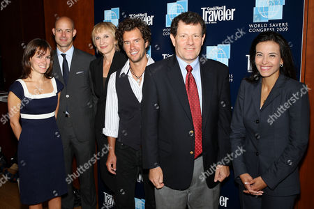 Rachel Webber (Director of Energy Initiatives, News Corp), Chris Mitchell (VP and Publisher of Conde Nast Traveler), Klara Glowczewska (Editor-in-Chief of Conde Nast Traveler), Blake Mycoskie (CEO TOMS Shoes), Nicholas D. Kristof (Columnist at The New Yorker)