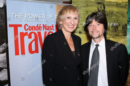 Klara Glowczewska (Editor-in-Chief of Conde Nast Traveler) and Ken Burns