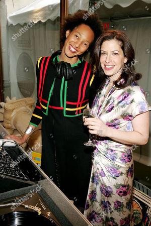 DJ Becky and Deborah Needleman (Editor in Chief)