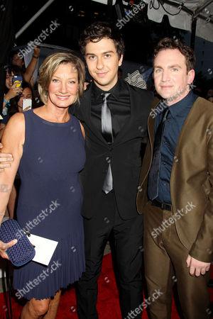 Elizabeth Gabler (Pres. Fox 2000), Nat Wolff, Jake Schreier (Director)