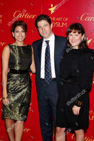 Eva Mendes, Frederic de Narp (President and CEO of Cartier North America) and Jennifer Howell (Founder The Art Of Elysium)