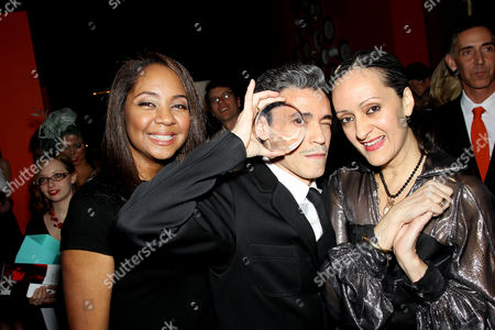 Stock Picture of Felecia Webb, Isabel and Ruben Toledo (DIFFA Honoree's)